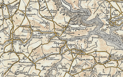 Old map of Yetson in 1899