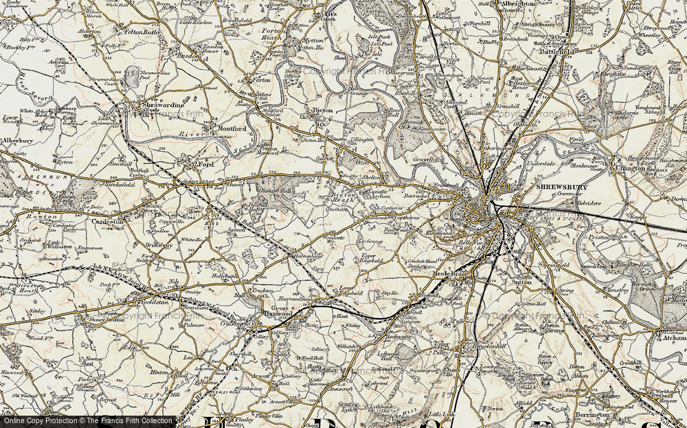 Old Map of Historic Map covering Ley Grange in 1902