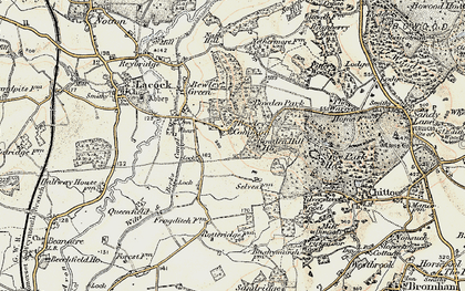 Old map of Bowden Hill in 1899