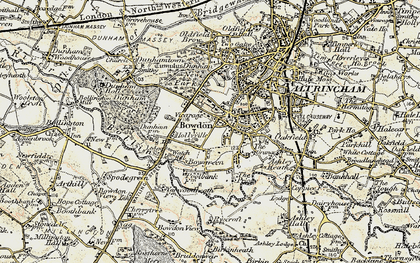 Old map of Bowdon in 1903