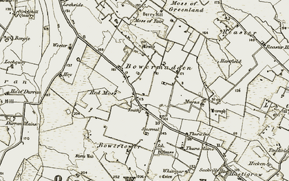 Old map of Wester Olrig in 1911-1912