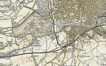 Old map of Bower Ashton in 1899