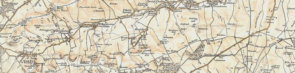 Old map of Bowerchalke in 1897-1909