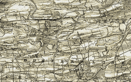 Old map of Lathalmond in 1904-1906