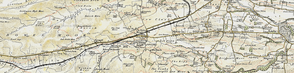 Old map of West Stoney Keld in 1903-1904