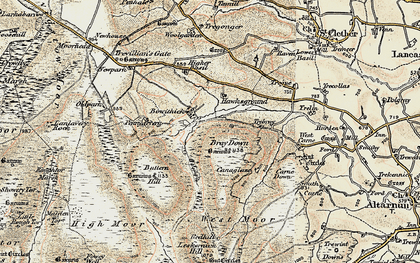 Old map of Bowithick in 1900