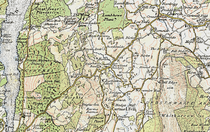 Old map of Barkbooth in 1903-1904