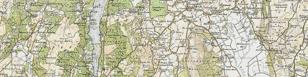 Old map of Addyfield in 1903-1904