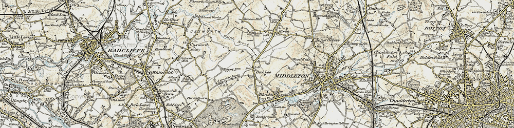 Old map of Whittle Brook in 1903