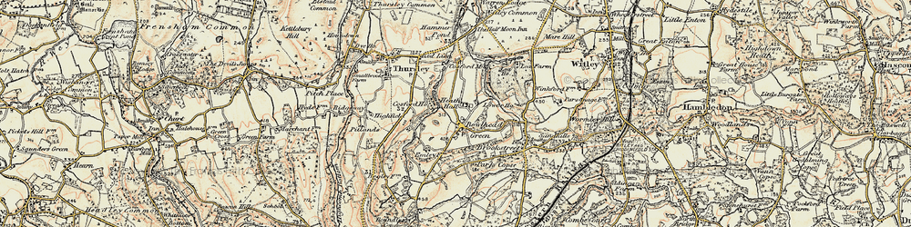 Old map of Thursley Lake in 1897-1909