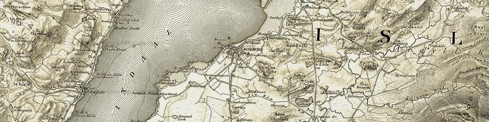 Old map of Tom na Crior in 1905-1907