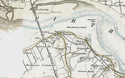 Old map of Bowness-on-Solway in 1901-1904