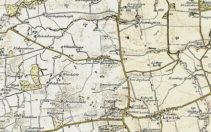 Old map of Lickar Lea in 1901-1903