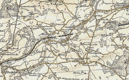 Old map of Box in 1899