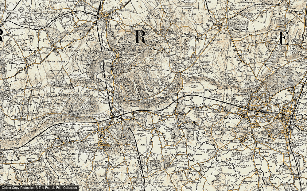 Old Map of Historic Map covering Ashurst Rough in 1898-1909