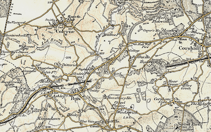 Old map of Box Hill in 1899