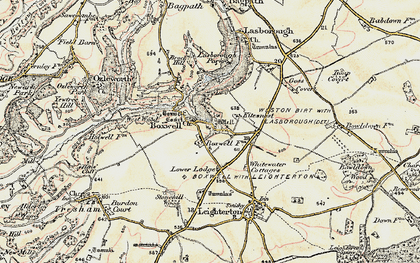Old map of Boxwell in 1898-1899