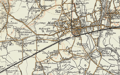Old map of Boyn Hill in 1897-1909