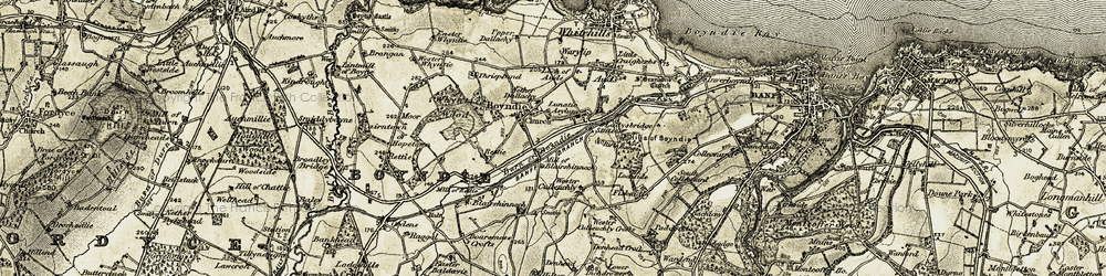 Old map of Wester Culbeuchly in 1910
