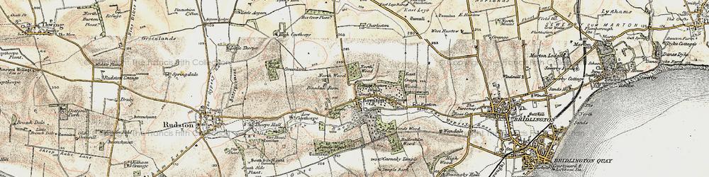 Old map of Boynton in 1903-1904