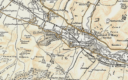 Old map of Boyton in 1897-1899
