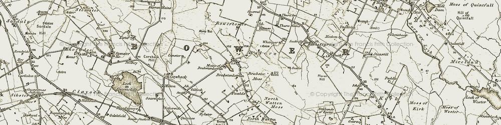 Old map of Whitegar in 1911-1912
