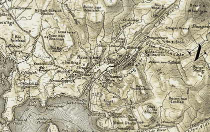 Old map of Amar River in 1908-1909