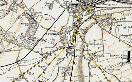 Old map of Whitehall in 1902-1903