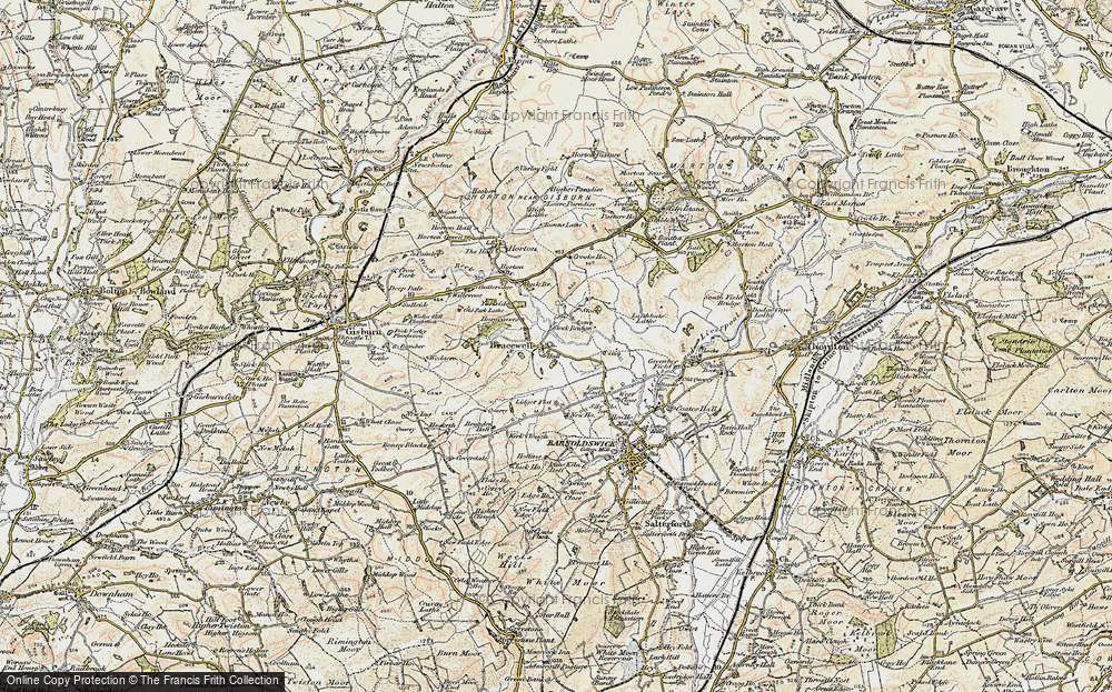 Old Map of Bracewell, 1903-1904 in 1903-1904
