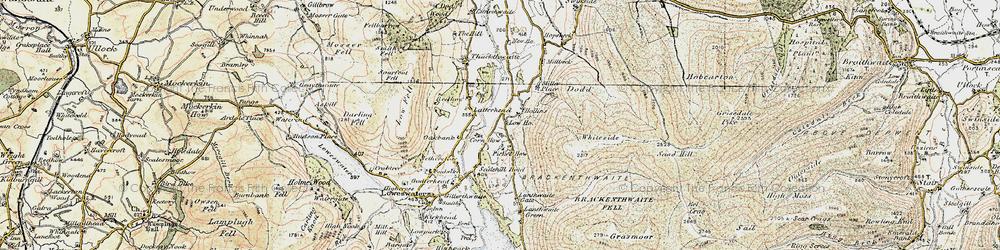 Old map of Latterhead in 1901-1904