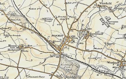 Old map of Brackley in 1898-1901