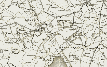 Old map of Lieurary in 1911-1912