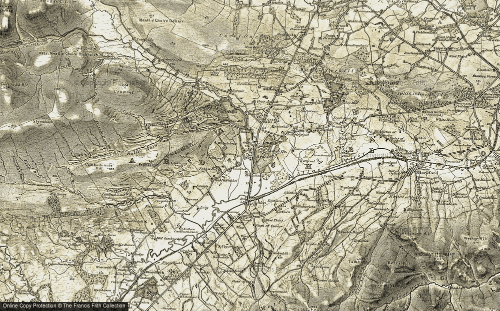 Old Map of Braco, 1906-1907 in 1906-1907