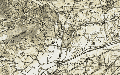 Old map of Braco in 1906-1907