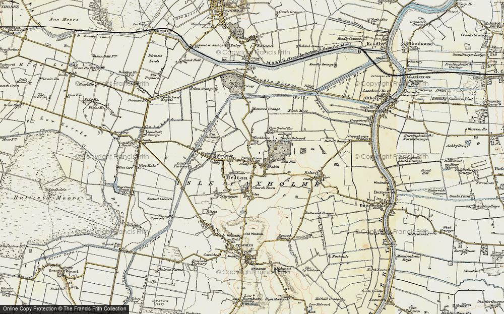Old Map of Bracon, 1903 in 1903