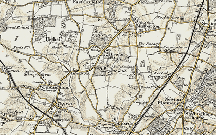 Old map of Mergate Hall in 1901-1902