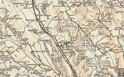 Old map of Bradenham in 1897-1898
