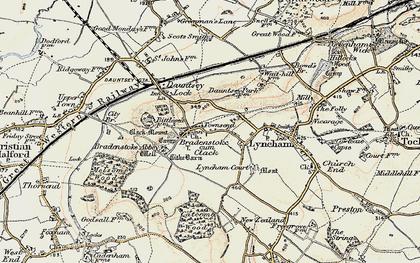 Old map of Bradenstoke in 1898-1899