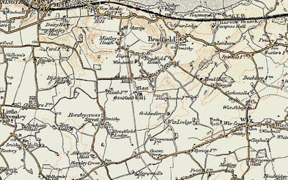 Old map of Wix Lodge in 1898-1899