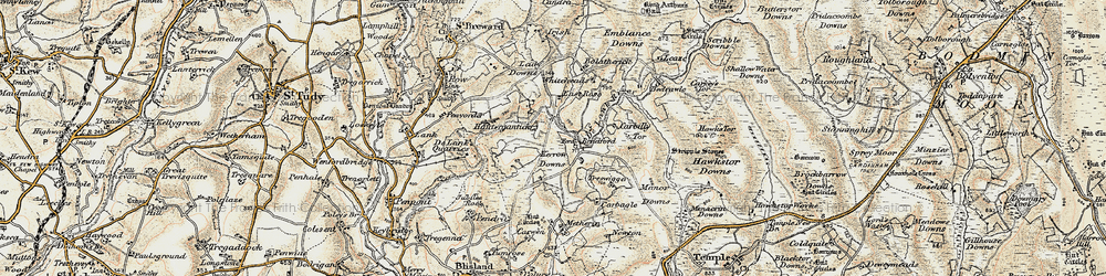 Old map of Whiteheads in 1900