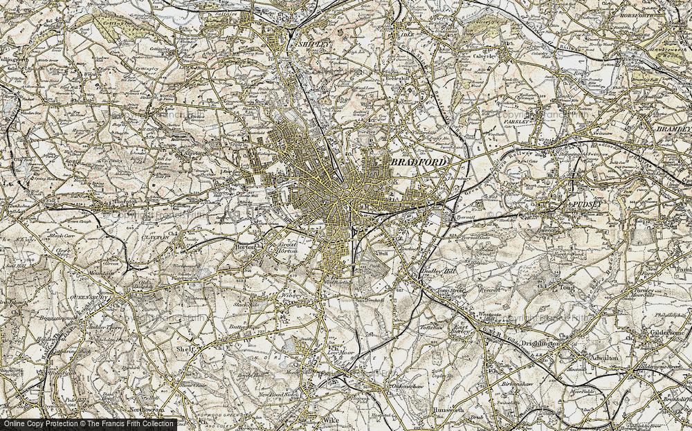 Old Map of Bradford, 1903 in 1903