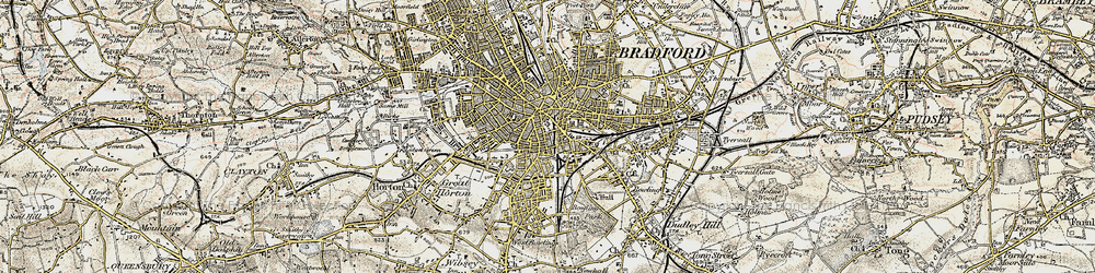 Old map of Bradford in 1903