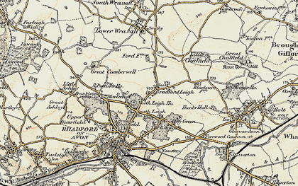 Old map of Bradford Leigh in 1898-1899