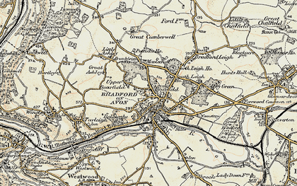 Old map of Bradford-On-Avon in 1898-1899