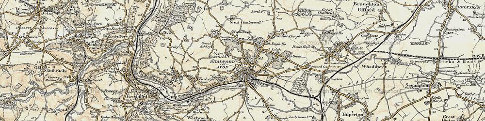 Old map of Bradford-On-Avon in 1898-1899