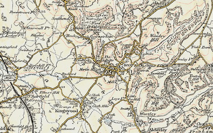 Old map of Wotton Hill in 1898-1899