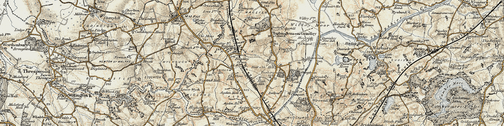 Old map of Agden Hall in 1902