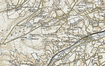Old map of Worts Hill in 1903