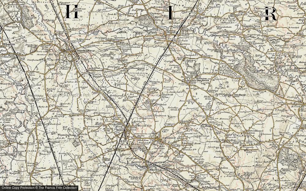 Old Map of Bradwall Green, 1902-1903 in 1902-1903