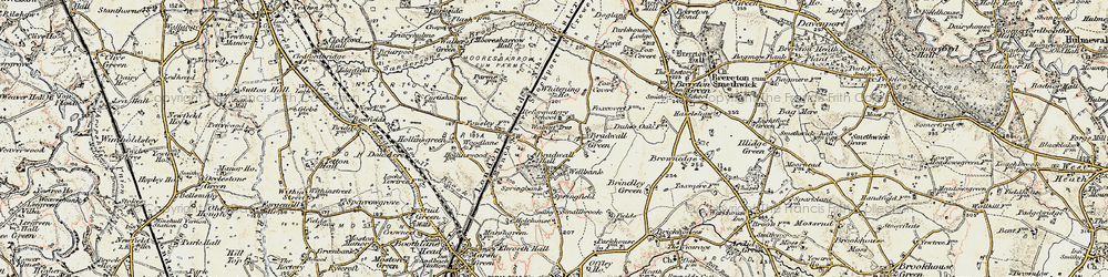 Old map of Whitening Ho in 1902-1903